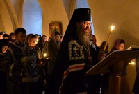 Митрополит Ростислав совершил повечерие с чтением Великого канона преподобного Андрея Критского