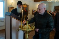 Советник Президента России М.А. Федотов посетил строящийся храм на Каштачной горе