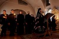 Чтение Великого покаянного канона в Воскресенской церкви