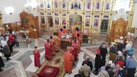 Митрополит Ростислав возглавил праздничное богослужение во Владимирском храме г. Северска