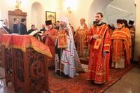 В Богородице-Алексиевском монастыре совершено праздничное архиерейское богослужение