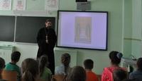 Священник Томской епархии рассказал ученикам Побединской школы о святых Петре и Февронии Муромских