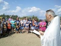 В день Крещения Руси более 60 человек крестились в водах реки Яя