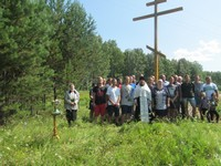 В деревне Вознесенка освящён поклонный крест
