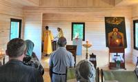 В новопостроенном храме Кисловки была отслужена первая литургия