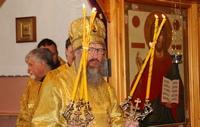 В домовом храме посёлка Светлый была совершена литургия архиерейским чином