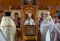 Митрополит Ростислав возглавил богослужение в деревне Турунтаево
