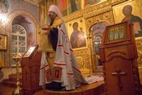 Митрополит Ростислав возглавил вечернее богослужение в Богоявленском кафедральном соборе
