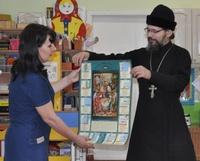 Священник поздравил сотрудников и воспитанников детского сада с праздником Рождества Христова