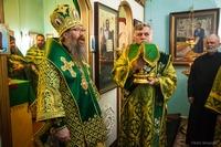 Храм в Александровском отметил престольный праздник архиерейским богослужением