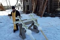 Совершено освящение крестов для строящегося в Нащёково храма