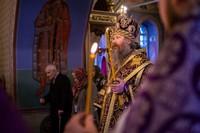 Митрополит Ростислав возглавил вечернее богослужение накануне Крестопоклонной недели