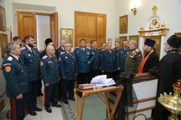 Священник Томской епархии посетил Совет атаманов Сибирского войскового казачьего общества