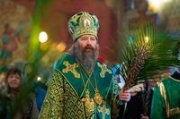 В канун праздника Входа Господня в Иерусалим митрополит Ростислав возглавил торжественное богослужение в Богоявленском соборе