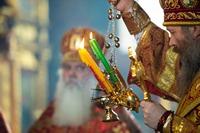 Вечером в среду Светлой седмицы Глава Томской митрополии совершил пасхальное богослужение в Петропавловском соборе г. Томска
