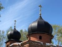 Для строящегося храма в с. Калтай освятили кресты