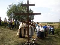 В Зырянском районе освящен поклонный крест