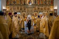 Александро-Невский храм отметил престольный праздник архиерейским богослужением