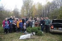Прихожане Воскресенской церкви посадили 300 кедров