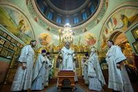 Третий день попразднства Рождества Христова Троицкий храм отметил архиерейским богослужением