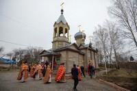 В Свято-Троицком храме с. Первомайского совершено архиерейское богослужение пасхальным чином
