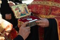Томичи встретили ковчег с мощами великомученика Георгия Победоносца и список с древней «Скороуслышательной» иконы святителя Николая Чудотворца