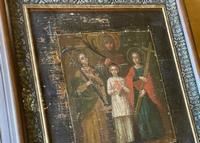В Никольском храме пос. Зональная Станция хранится старинная икона мучениц Веры, Надежды, Любови и матери их Софии