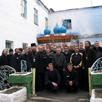 Братия Томского Богородице-Алексиевского монастыря посетила исправительную колонию №4 города Томска