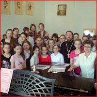 Руководитель Отдела по делам молодежи Томской епархии принял участие открытом уроке, прошедшем в 1-й школе искусств