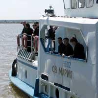 Теплоход Святая Мария с православными миссионерами на борту отправился в путешествие  по Томи и Оби
