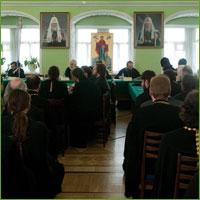 Архиепископ Ростислав принял участие в расширенном заседании Учебного комитета Русской Православной Церкви
