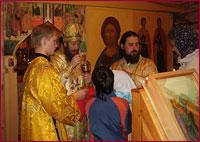 15 августа архиепископ Ростислав совершил Божественную литургию в храме святых страстотерпцев Бориса и Глеба c.Корнилово Томского района