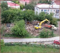 Продолжается благоустройство территории одной из жемчужин исторической части Томска — Богородице-Алексиевского монастыря