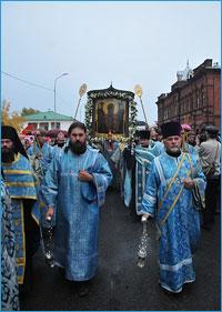Крестный ход с Абалацкой иконой Пресвятой Богородицы