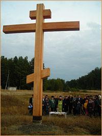 В селе Батурино Асиновского района установлен и освящен поклонный крест