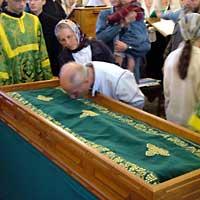 5 июля 2004 г. Томская епархия торжественно праздновала день Обретения святых мощей праведного старца Феодора Томского