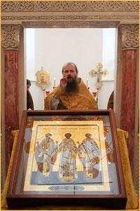 Престольный праздник в Трехсвятительском храме