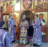 Архиепископ Ростислав совершил Божественную литургию в с. Зоркальцево Томского района