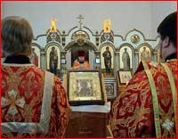 Пациенты Томской областной клинической психиатрической больницы помолились перед святыней