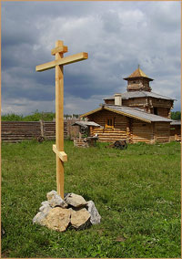 В остроге с.Семилужки была совершена закладка двух храмов