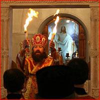 Благодатный огонь доставлен в Томск